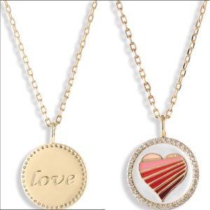 LULU DK HEART LOVE NECKLACE